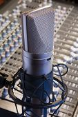 Close Up Of Professional Studio Microphone