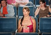 Horrified People At Theater