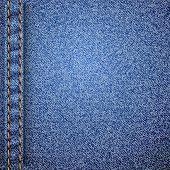 Padrão de textura jeans realista. Ilustração vetorial.