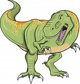 Tiranossauro dinossauro T-Rex Vector ilustração arte