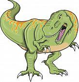 Tyrannosaurus Dinosaur T-Rex Vector Illustration Art