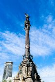 The Columbus Monument (mirador A Colom) Sculpted By Rafael Atche As A Monument To Sir Christopher Co poster