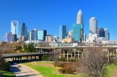 Horizonte de Uptown Charlotte, Carolina do Norte.