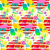 Exotic Pattern.vector Flat Background. Abstract Images. Collage.seamless Pattern. Zine Images. poster