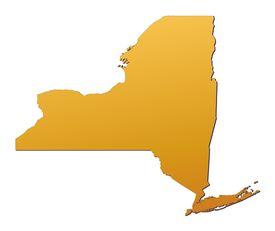 pic of united states map  - New York  - JPG