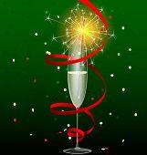 drink and sparkler