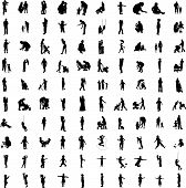 foto of person silhouette  - One hundred isolated silhouettes of parents and children - JPG