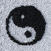 Yinyang Symbol Made Of Gravel