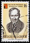 Postage stamp Belgium 1995 Frans de Troyer, Clergyman, Philateli