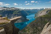 stock photo of troll  - Trolltunga Troll - JPG