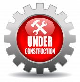 Vector under construction sign