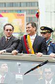 Quito, ECUADOR - 24 de mayo: desfile militar nacional