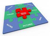 3D Social Media Solved Puzzle