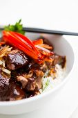 Japanese Steak Bowl with rice