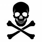 Crossbones y cráneo