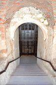 Stone Staircase. Monastery - Fortress Of Carmelites, Berdychiv, Ukraine