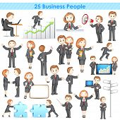pic of three-dimensional  - illustration of 3d businesspeople collection doing different activities - JPG