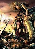 image of battlefield  - Fantasy drawing - JPG
