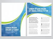 image of insert  - vector business brochure - JPG