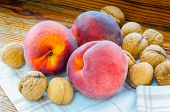 Three Peaches And Some Walnuts