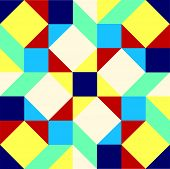 stock photo of parallelogram  - Geometric background pattern comprised of squares - JPG