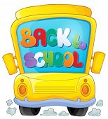 Image with school bus theme 3 - eps10 vector illustration.