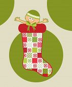 First Christmas  - baby in Christmas Stocking - Christmas Baby