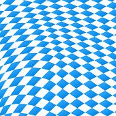 Diamond Pattern In Blue And White