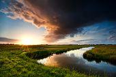 Storm Cloud At Dramatic Sunset