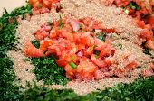 Tabbouleh ingredients.