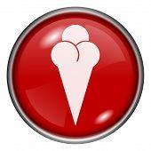 Vermelho redonda ícone brilhante