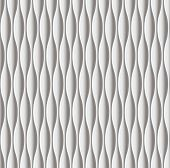 White seamless texture. Vertical wavy background. Interior wall decoration. 3D Vector interior wall panel pattern. Modern wavy white design wall.