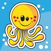 Cute sea creature sticker