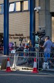 Television reporter at Royal hospital