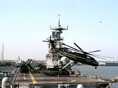 Aircraft Carrier In New Orleans After Katrina