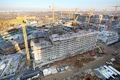 MOSCOW - NOV 23: Multi-storey buildings under construction in complex Tsaritsino, Nov 23, 2012 in Mo