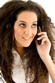 Beautiful Woman Busy With Phone Call