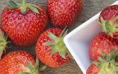 Macro Shot Of Fresh Summer Strawberries