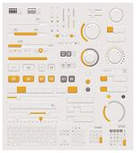 pic of musical scale  - Vector UI set  - JPG