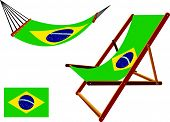 Brasil Hammock And Deck Chair Set
