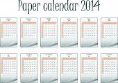 Paper Calendar 2014