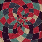 Circular Pattern Of Multicolored Geometric Shapes