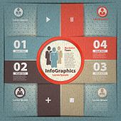 Modern Infographic Template For Business Team Work