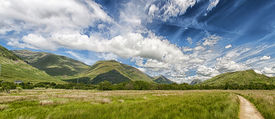 pic of bute  - A Panoramic image of the beautiful Scottish countryside in the Argyll and Bute region of the country near to the banks of Loch Awe - JPG