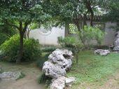 stock photo of ou  - An Ou garden at  Suzhou in China - JPG