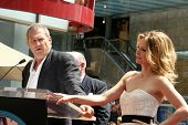 Jeff Bridges and Michelle Pfeiffer at the ceremony honoring Michelle Pfeiffer with the 2,345th star