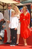 David E. Kelley with Michelle Pfeiffer and family at the ceremony honoring Michelle Pfeiffer with th