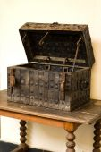 Antique Medieval Wooden Chest poster