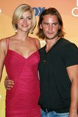 Adrianne Palicki and Taylor Kitsch in the press room of the 2007 Teen Choice Awards. Gibson Amphitheater, Universal City, CA. 08-26-07