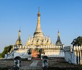pic of nu  - Burmese Pagoda At Maha Aungmye Bonzan Monastery In Inwa - JPG